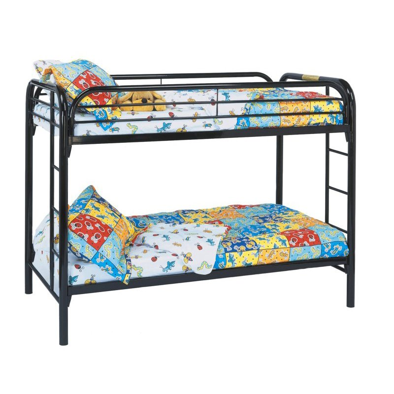 Monarch Twin Over Twin Bunk Bed in Black