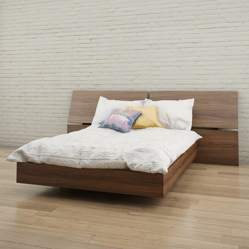 Nexera 2-Pieces Full Size Panoramic Bedroom Set in Walnut (400690)