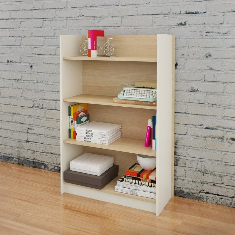 Nexera 4-Shelf Bookcase in Natural Maple