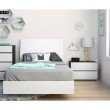 Nexera Acapella 3-Pieces Twin Bedroom Set in White and Ebony (400748)