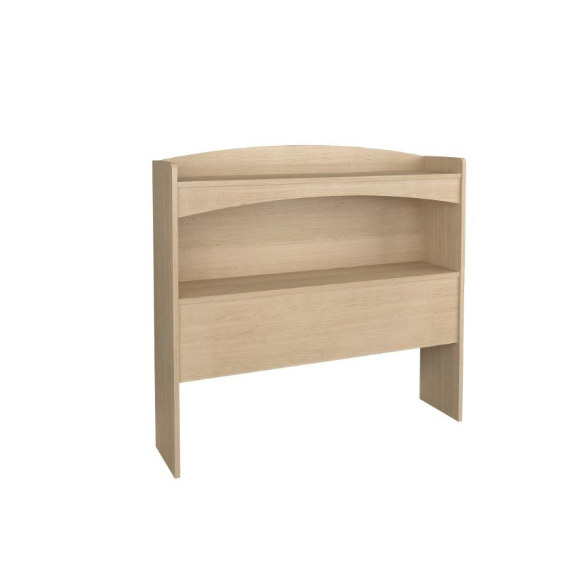 Nexera Alegria Twin Bookcase Headboard in Maple