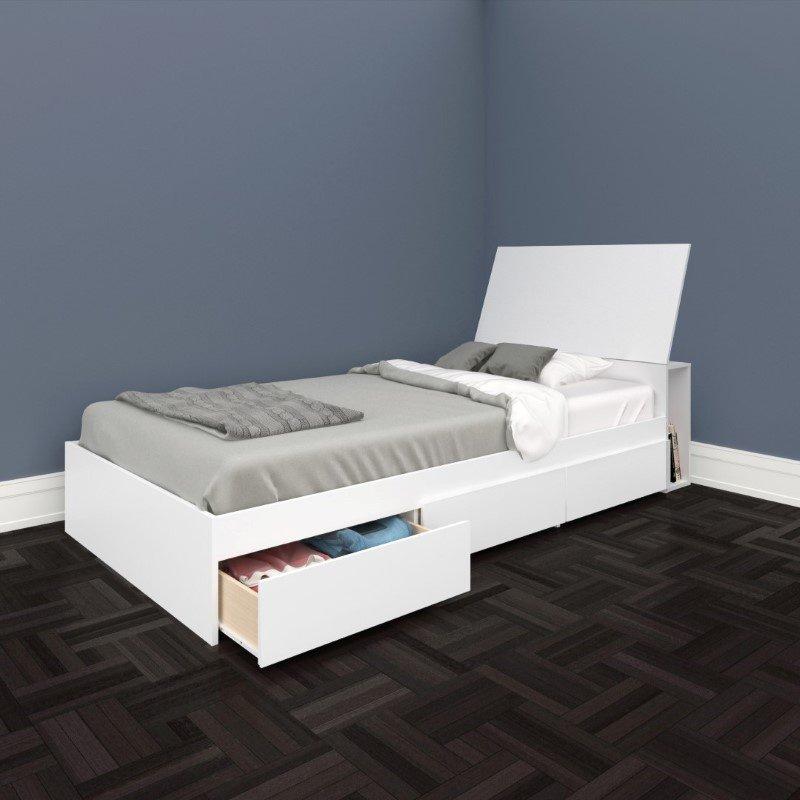 Nexera Blvd 2 Piece Twin Bedroom Set in White