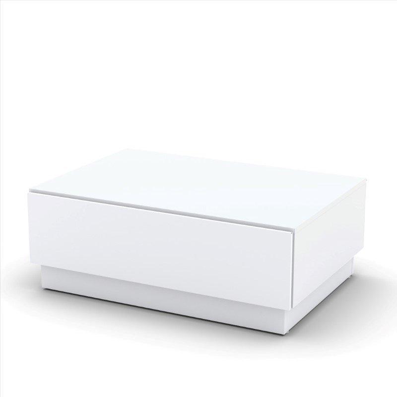 Nexera Blvd Coffee Table with Hidden Storage in White