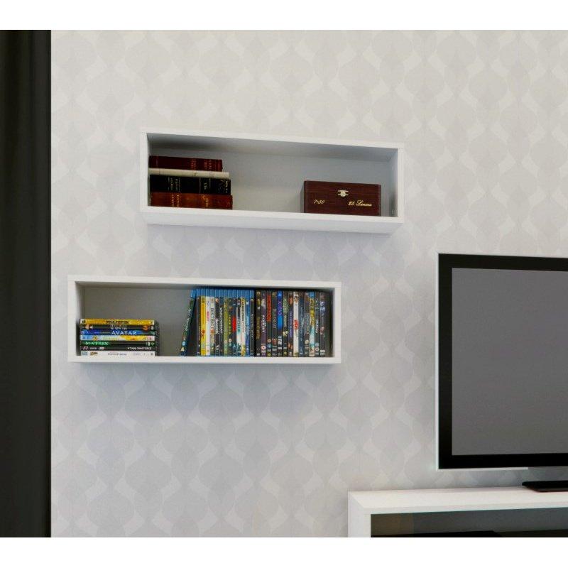 Nexera Blvd Decorative Wall Rectangles in White (set of 2)