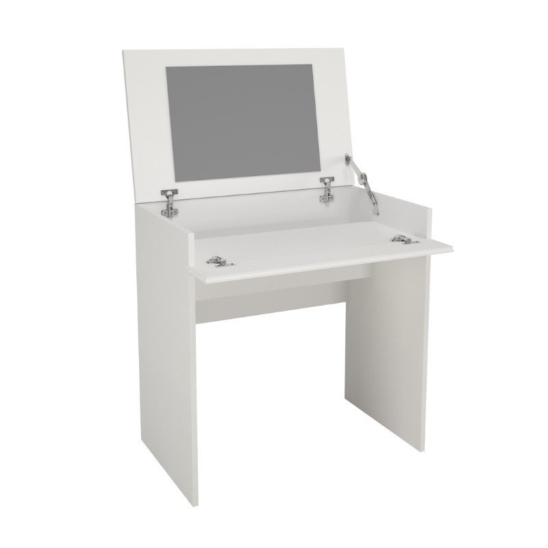Nexera Blvd Vanity with Enclosed Storage and Mirror in White