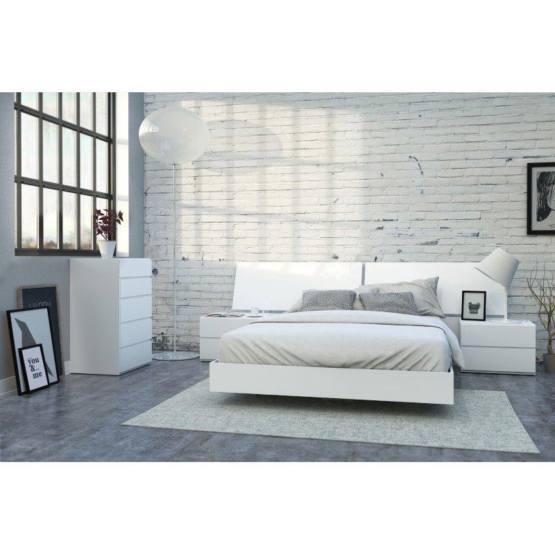 Nexera District 5-Pieces Queen Size Bedroom Set in White (400661)