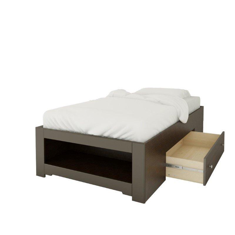 Nexera Dixon Twin Size Reversible Bed in Espresso