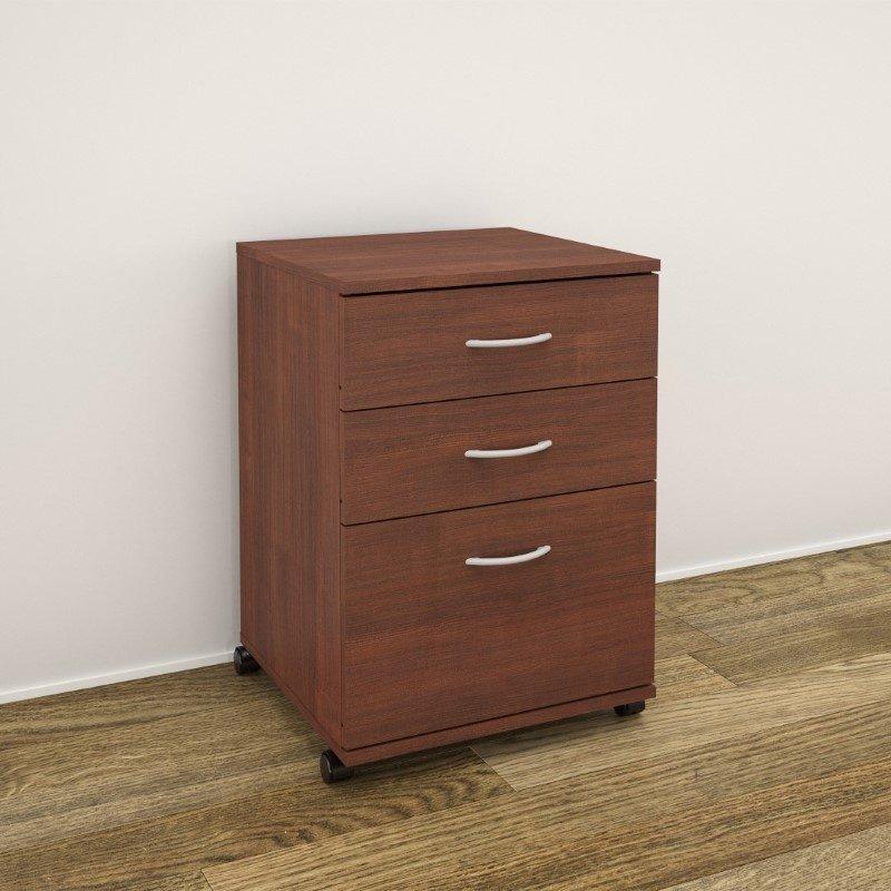 Nexera Essentials 3-Drawer Mobile Filing Cabinet in Moka (19092)
