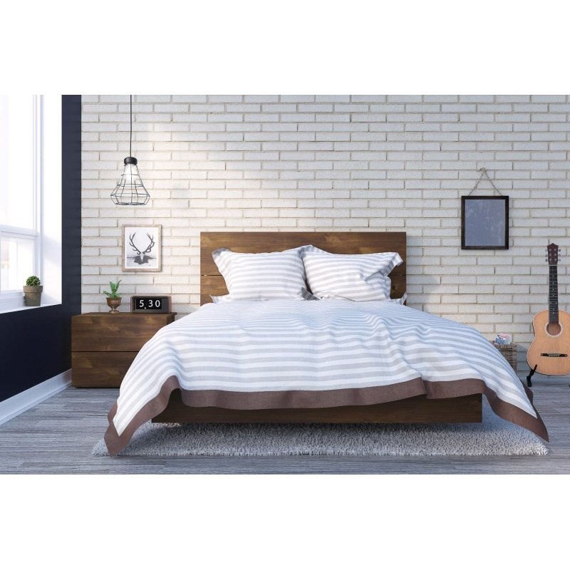 Nexera Karibou 3-Pieces Full Size Bedroom Set in Truffle (400861)
