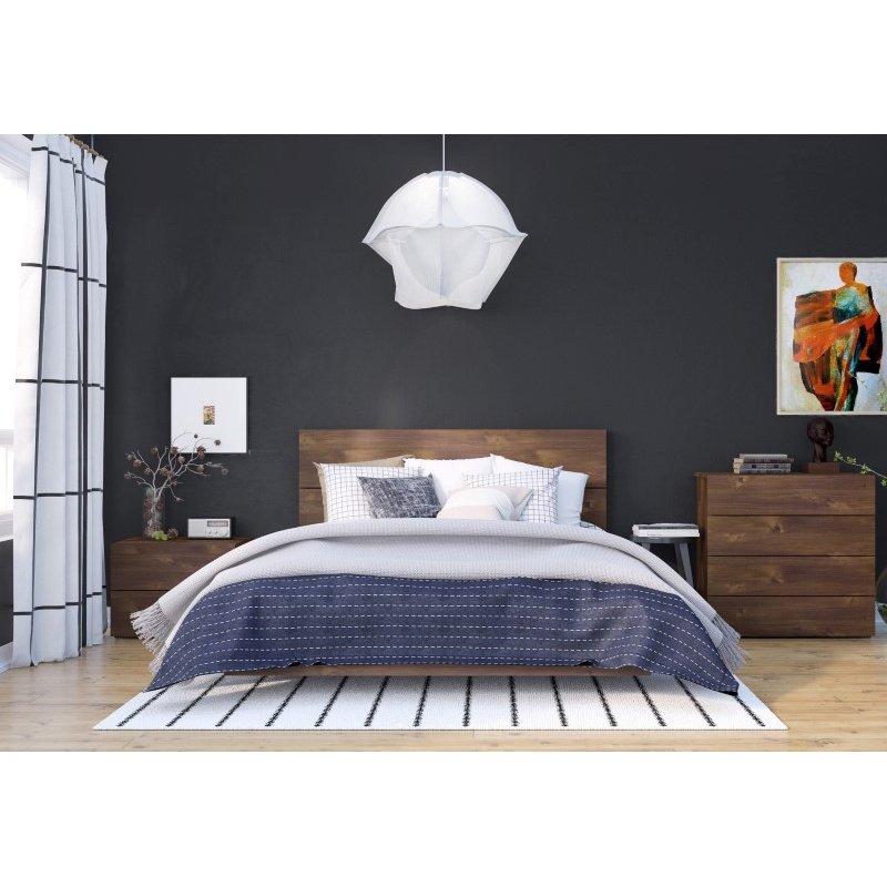 Nexera Karibou 4-Pieces Queen Size Bedroom Set in Truffle (400866)