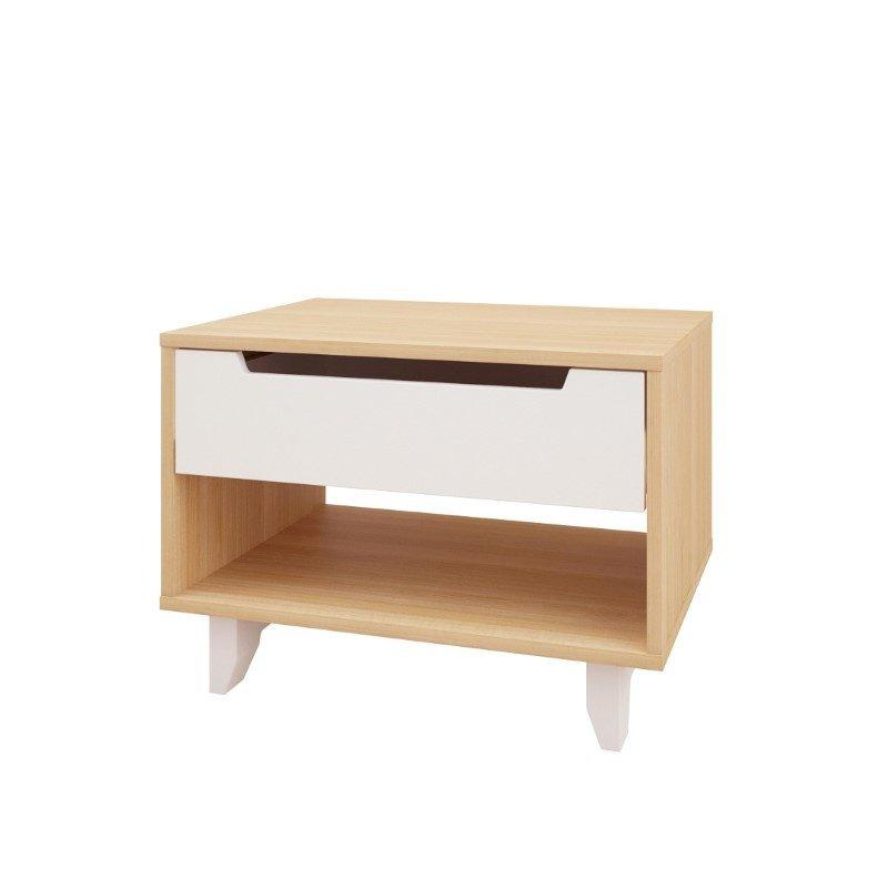 Nexera Nordik 1 Drawer Nightstand in Maple