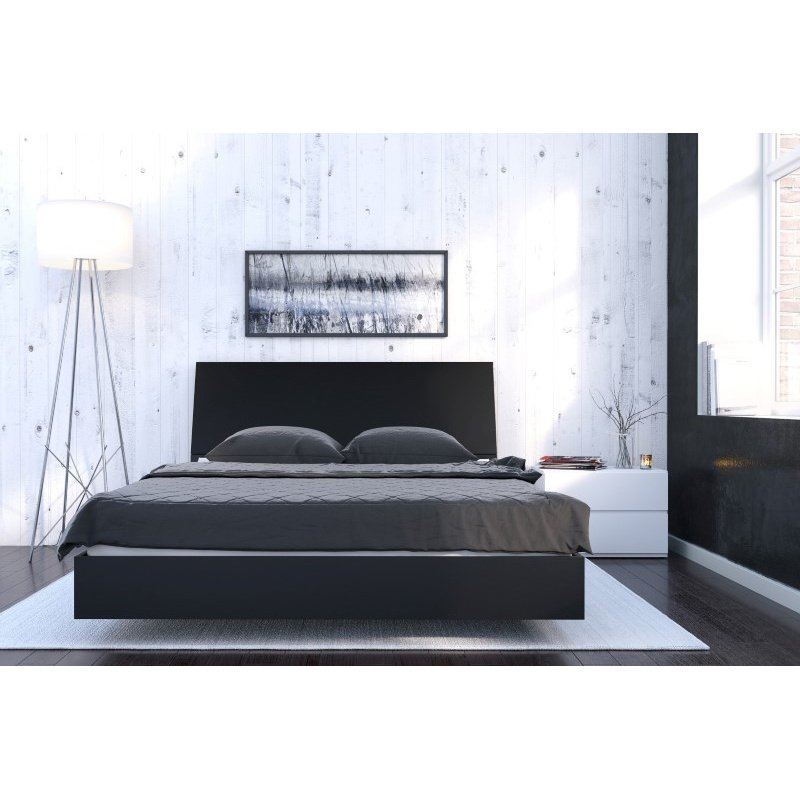 Nexera Orca 3-Pieces Queen Size Bedroom Set in Black and White (400822)