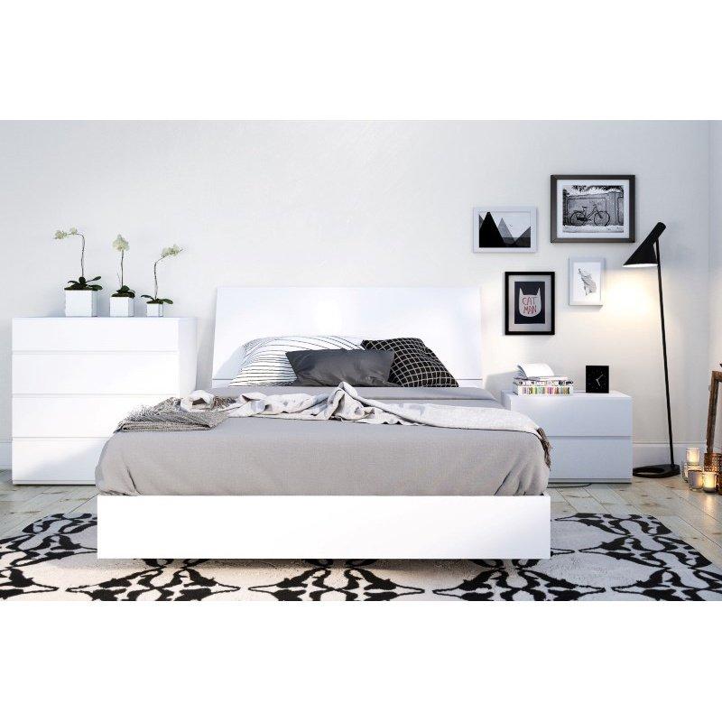 Nexera Paris 4-Pieces Full Size Bedroom Set in White (400786)