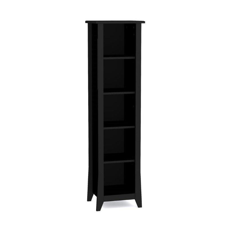 "Nexera Tuxedo 60"" Slim Bookcase in Black"