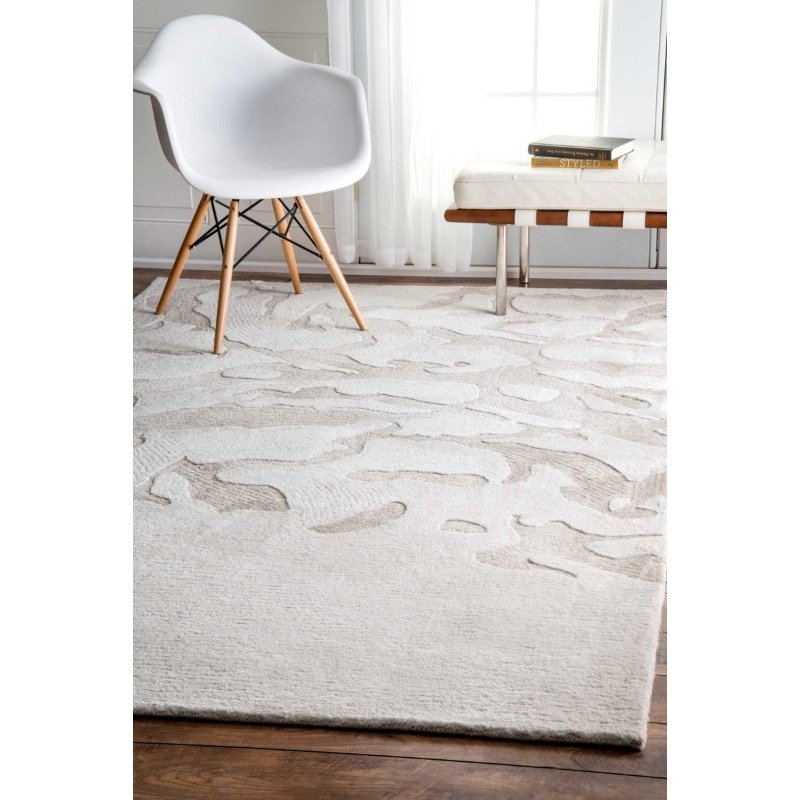 "nuLOOM Abstract Dorcas Rug 7' 6"" x 9' 6"" Ivory Rectangle (AKSH01A-76096)"