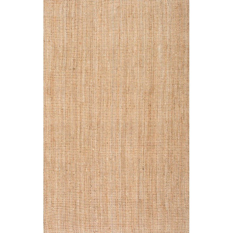 nuLOOM Ashli Solid Jute Rug 5' x 8' Natural Rectangle (CLWA01A-508)