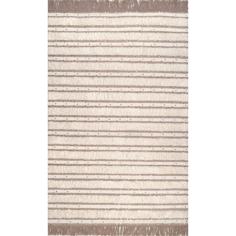 nuLOOM Batista Tassel 5' x 8' Rectangle Rug in Ivory (SESQ02A-508)