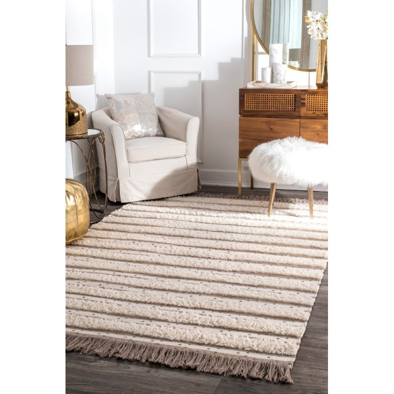 "nuLOOM Batista Tassel 7' 6"" x 9' 6"" Rectangle Rug in Ivory (SESQ02A-76096)"