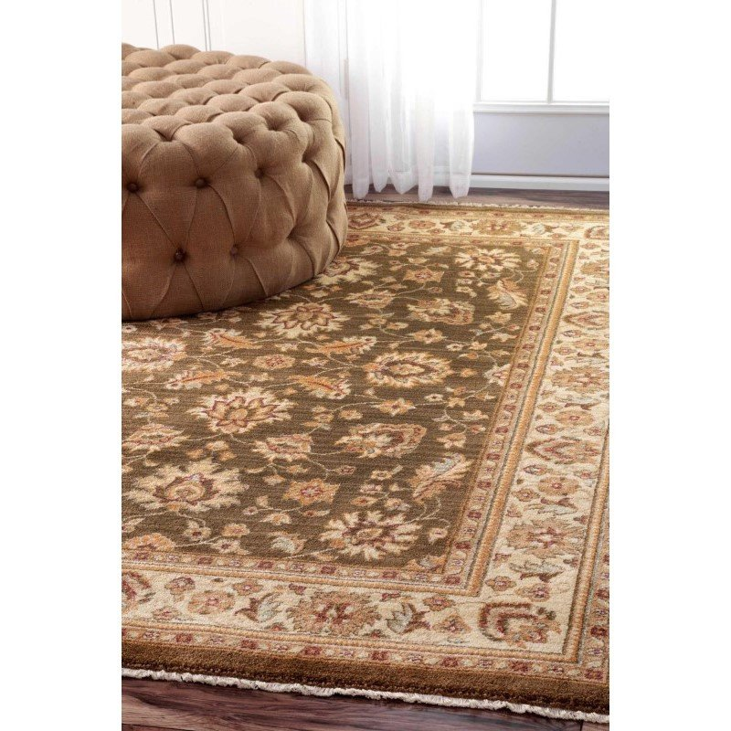 "nuLOOM Benito Floral Persian Rug 2' 7"" x 4' Olive Rectangle (ECES01B-203)"