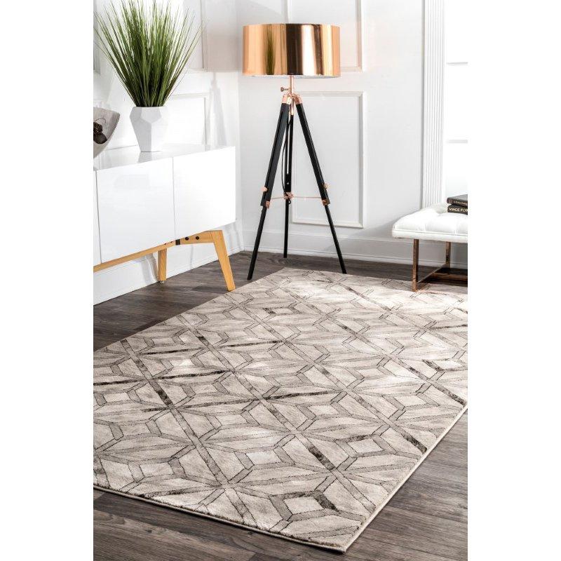 """nuLOOM Blakely Diamond Tiles 2' 5"""" x 8' Runner Rug in Beige (YKMM10A-208)"""