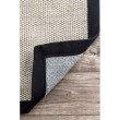 nuLOOM Bordered Chloe Sisal 3' x 5' Rectangle Rug in Black (ZHSS05B-305)