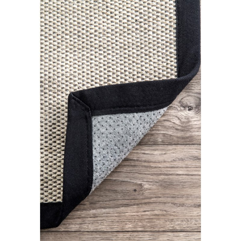 nuLOOM Bordered Chloe Sisal 5' x 8' Rectangle Rug in Black (ZHSS05B-508)
