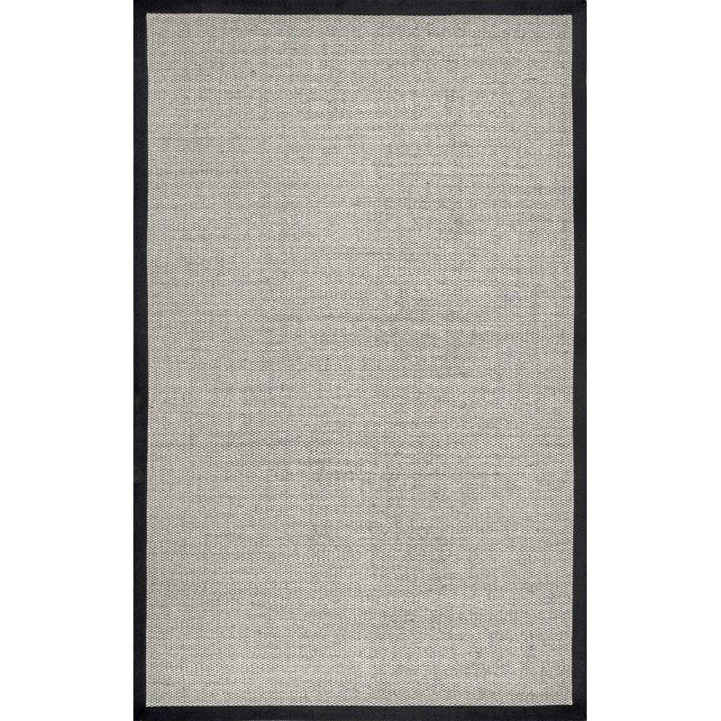nuLOOM Bordered Chloe Sisal 8' x 10' Rectangle Rug in Black (ZHSS05B-8010)