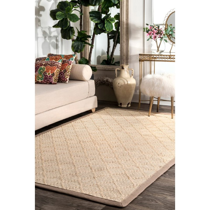 nuLOOM Bordered Donnetta Sisal 8' x 10' Rectangle Rug in Natural (ZHSS04A-8010)