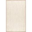 nuLOOM Bordered Maryjo Sisal 9' x 12' Rectangle Rug in Beige (ZHSS03A-9012)