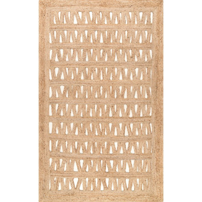 nuLOOM Braided Carlene Chevron 5' x 8' Rectangle Rug in Natural (TAJT16A-508)