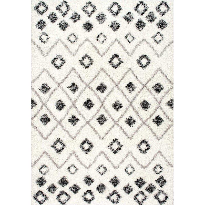 nuLOOM Cicely Shaggy Rug 4' x 6' Grey Rectangle (OZXS02B-406)