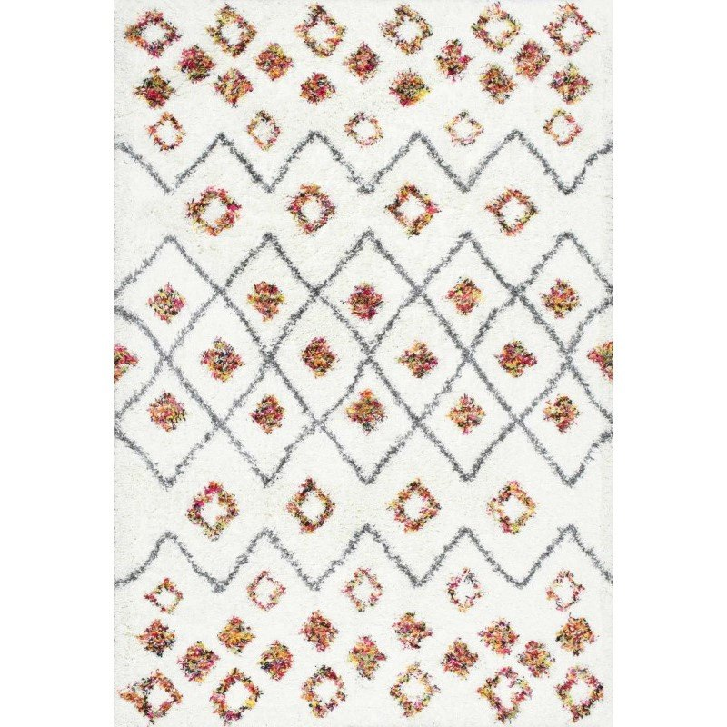 nuLOOM Cicely Shaggy Rug 4' X 6' White Rectangle (OZXS02A-406)