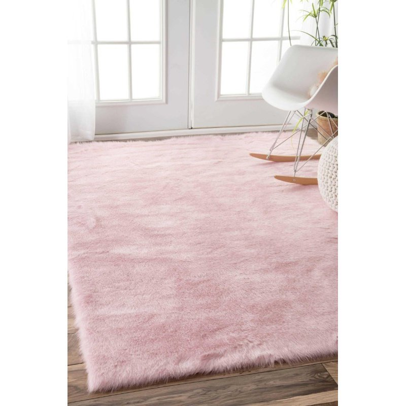 nuLOOM Cloud Shag Rug 3' x 5' Pink Rectangle (BIBL15C-305)