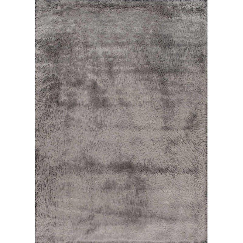 nuLOOM Cloud Shag Rug 5' Grey Square (BIBL15B-505S)