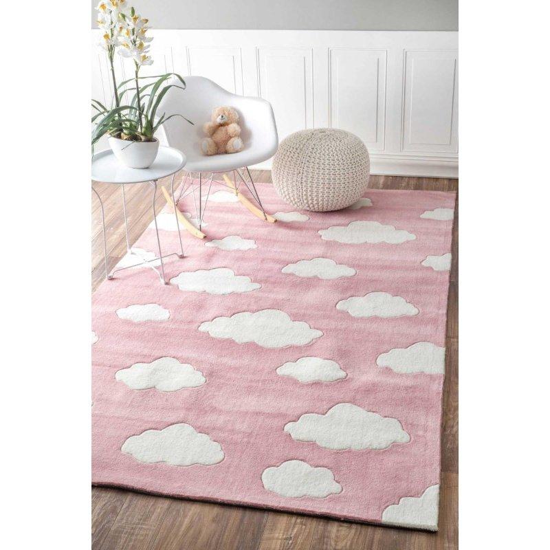 "nuLOOM Cloudy Sachiko Rug 3' 6"" x 5' 6"" Pink Rectangle (BHEV28B-36056)"