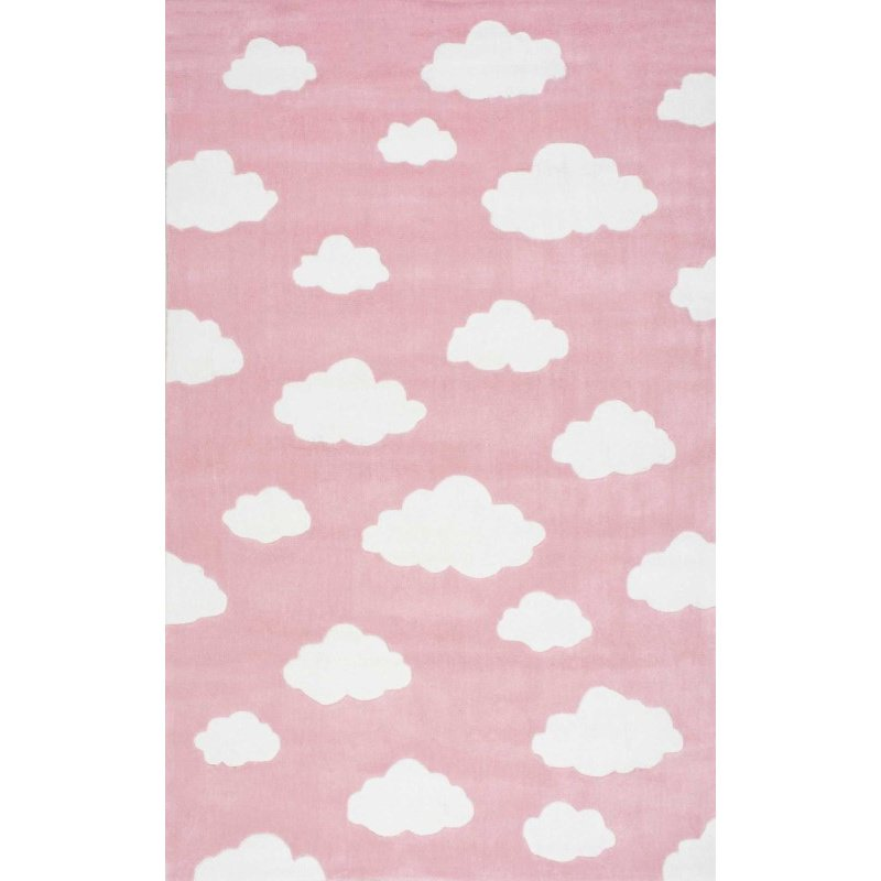 nuLOOM Cloudy Sachiko Rug 5' x 8' Pink Rectangle (BHEV28B-508)