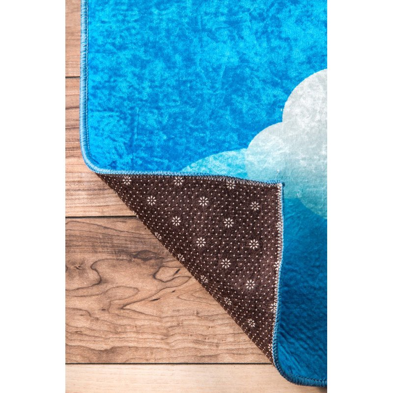 nuLOOM Contemporary Jojo Clouds 5' x 7' Rectangle Rug in Blue (BHSB01A-507)