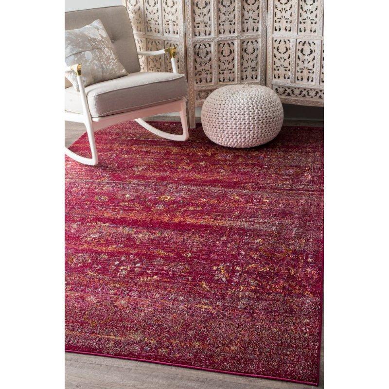 nuLOOM Deena Herati 5' x 8' Rectangle Rug in Burgundy (YKNV09A-508)