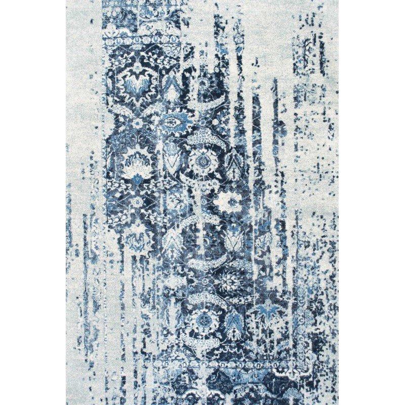 "nuLOOM Distressed Ernestina Flourish Rug 7' 6"" x 9' 6"" Blue Rectangle (GLAR03A-76096)"