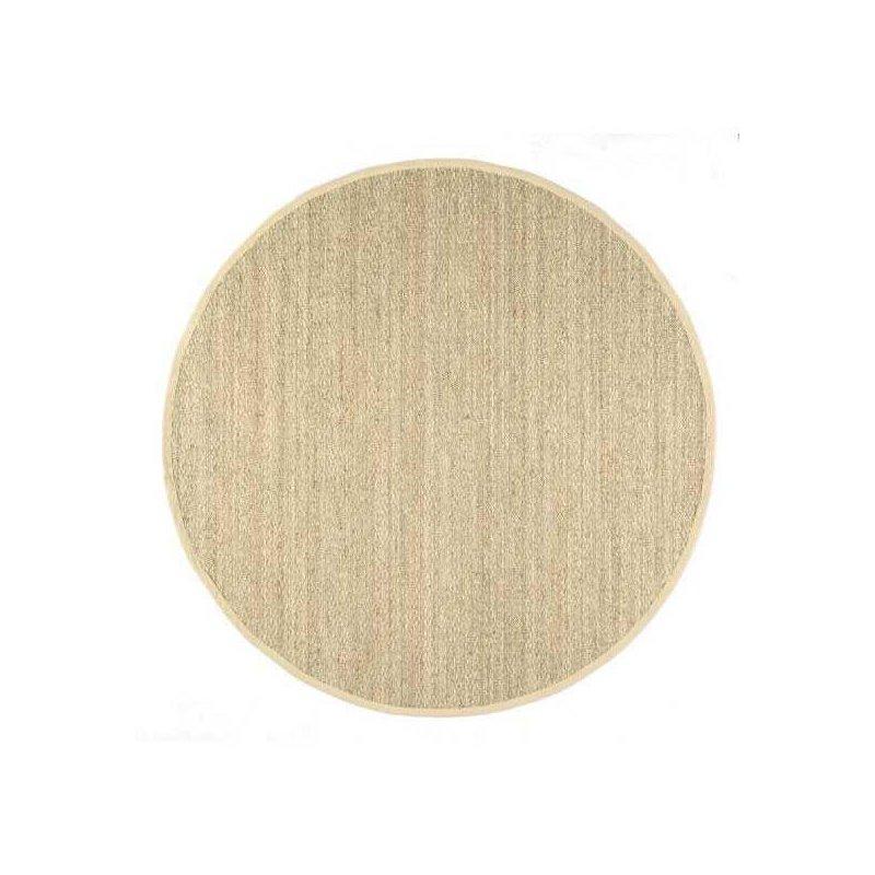 nuLOOM Elijah Seagrass with Border Rug 6' Beige Round (BHSG01A-606R)