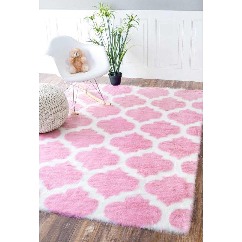 nuLOOM Faux Sheepskin Shaunna Rug 7' x 9' Pink Rectangle (BIBL25A-709)