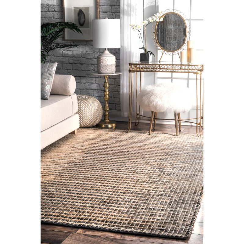 nuLOOM Flatweave Hulsey 6' x 9' Rectangle Rug in Grey (VEJT01A-609)