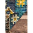 nuLOOM Flatweave Jaye Tassel 7' x 9' Rectangle Rug in Blue (SSIZ02A-709)