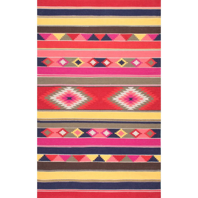"nuLOOM Flatweave Ladonna Tribal Kilim 8' 6"" x 11' 6"" Rectangle Rug in Multi (SPFA01A-860116)"