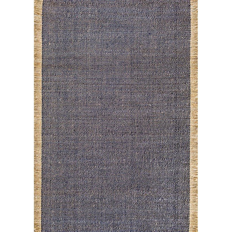 "nuLOOM Flatweave Solid Tassel Amalia Rug 8' 6"" x 11' 6"" Blue Rectangle (HCTR01A-860116)"