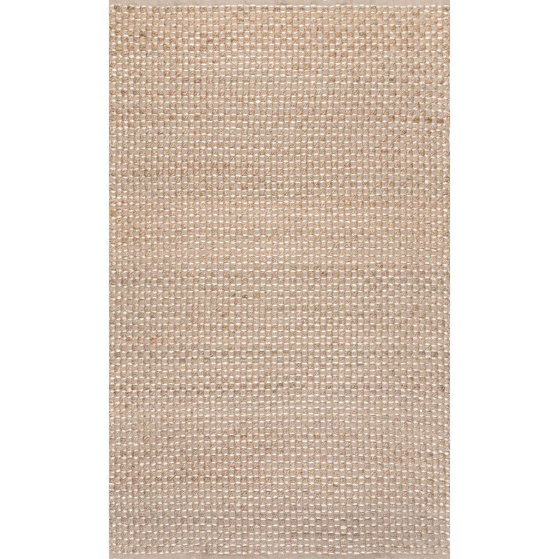 """nuLOOM Flatweave Tessie 7' 6"""" x 9' 6"""" Rectangle Rug in Natural (TABQ01A-76096)"""