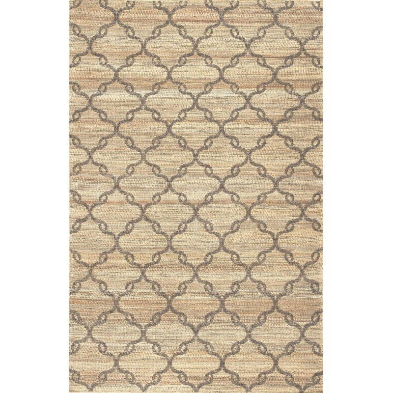 """nuLOOM Flatwoven Molly Rug 7' 6"""" x 9' 6"""" Natural Rectangle (ASPM02A-76096)"""