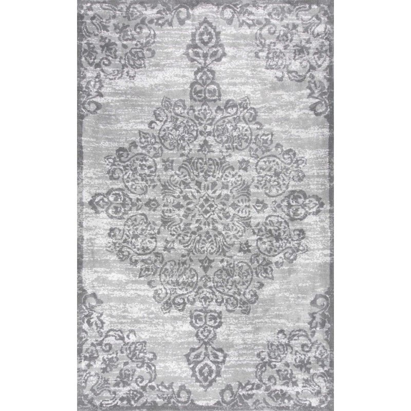 "nuLOOM Floral Alcala Rug 2' 6"" x 8' Grey Runner (BHBP02A-2608)"