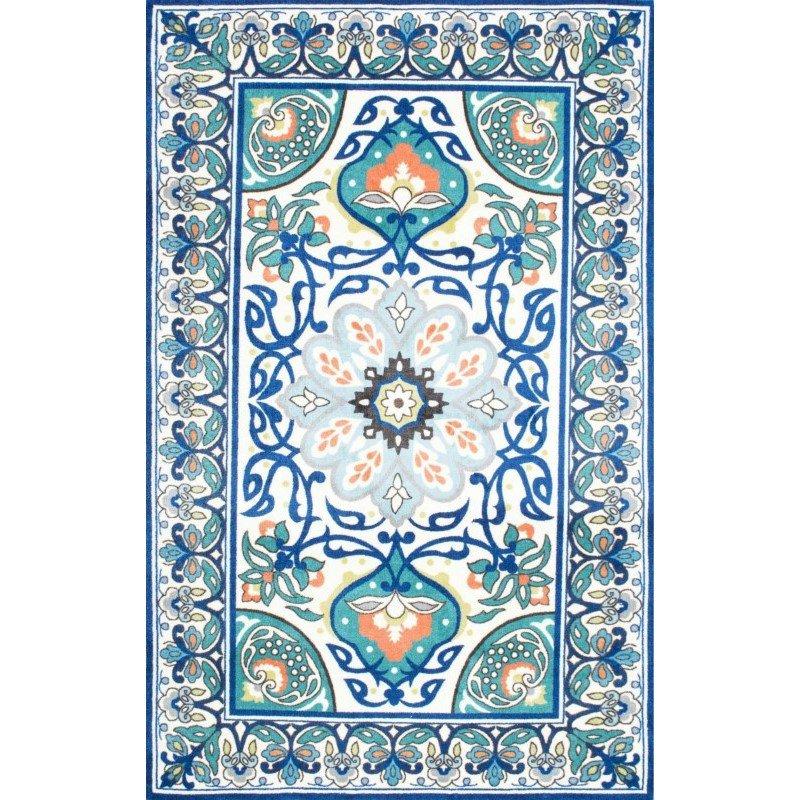 nuLOOM Floral Leda Rug 2' x 3' Blue Rectangle (BHBZ01A-203)