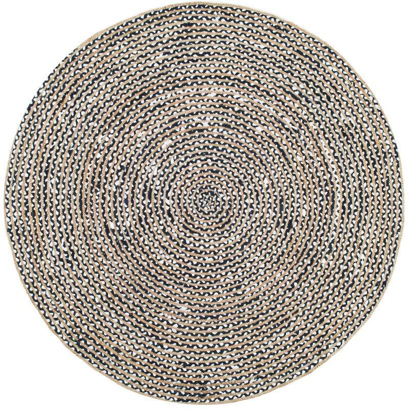 nuLOOM Glinda Natural Fiber 4' Round Rug in Black (TADR05A-R404)